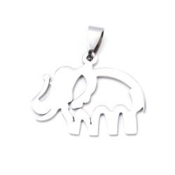 33723-17 STAINLESS STEEL ELEPHANT PENDANT  27 X 32 MM