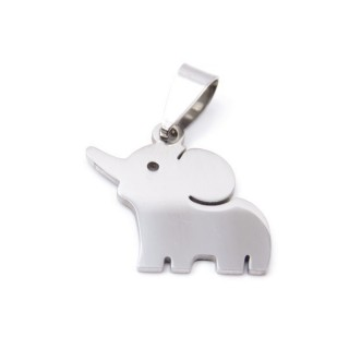 33723-22 STAINLESS STEEL ELEPHANT PENDANT 21 X 20 MM