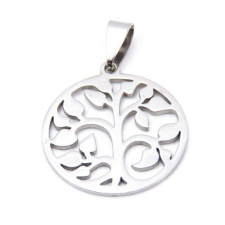 33723-33 STAINLESS STEEL TREE OF LIFE PENDANT 25 MM