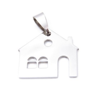 33723-45 STAINLESS STEEL HOUSE PENDANT 22 X 24 MM