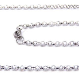 33629 STAINLESS STEEL 50 CMS LONG CHAIN WITH LOBSTER CLASP