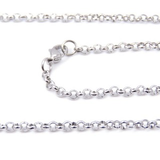33630 STAINLESS STEEL 60 CMS LONG CHAIN WITH LOBSTER CLASP