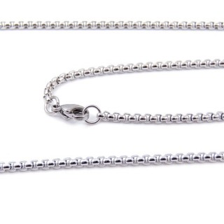 33632 STAINLESS STEEL 60 CMS LONG CHAIN WITH LOBSTER CLASP
