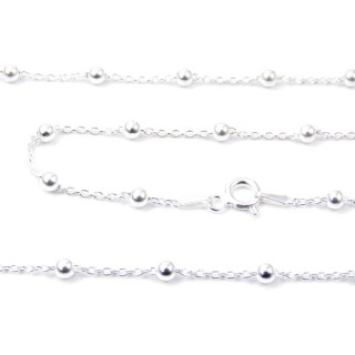 39332 FZ 40 1+1 P4 STERLING SILVER 45 CMS CHAIN