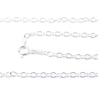 39321 BKC 148 STERLING SILVER 40 CMS CHAIN