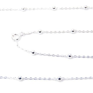 39312 KFB 25/1F STERLING SILVER 45 CMS CHAIN