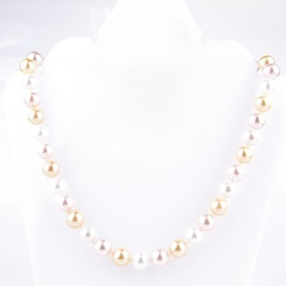 43065-04 SHELL PEARL 10 MM DIAMETER 45 CM LONG NECKLACE