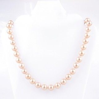 43065-05 SHELL PEARL 10 MM DIAMETER 45 CM LONG NECKLACE