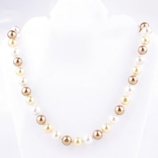 43065-06 SHELL PEARL 10 MM DIAMETER 45 CM LONG NECKLACE