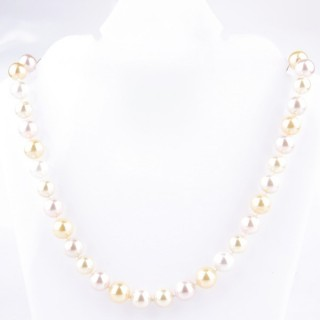 43065-08 SHELL PEARL 10 MM DIAMETER 45 CM LONG NECKLACE