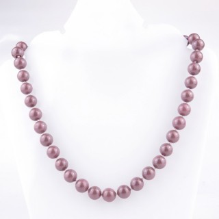 43065-09 SHELL PEARL 10 MM DIAMETER 45 CM LONG NECKLACE
