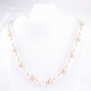 43065-11 SHELL PEARL 10 MM DIAMETER 45 CM LONG NECKLACE