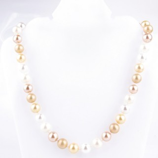 43065-12 SHELL PEARL 10 MM DIAMETER 45 CM LONG NECKLACE