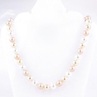 43065-17 SHELL PEARL 10 MM DIAMETER 45 CM LONG NECKLACE
