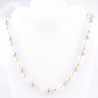 43064-04 SHELL PEARL 8 MM DIAMETER 45 CM LONG NECKLACE
