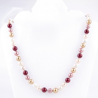43064-06 SHELL PEARL 8 MM DIAMETER 45 CM LONG NECKLACE