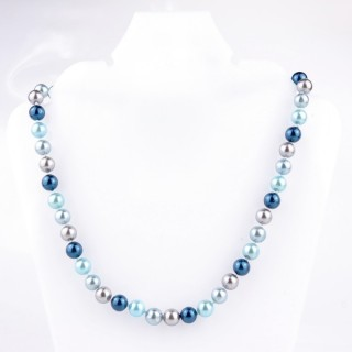 43064-07 SHELL PEARL 8 MM DIAMETER 45 CM LONG NECKLACE