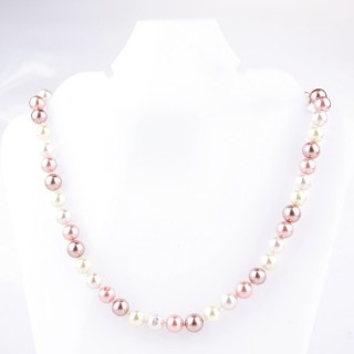 43064-08 SHELL PEARL 8 MM DIAMETER 45 CM LONG NECKLACE