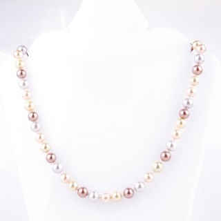 43064-09 SHELL PEARL 8 MM DIAMETER 45 CM LONG NECKLACE