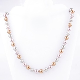 43064-10 SHELL PEARL 8 MM DIAMETER 45 CM LONG NECKLACE