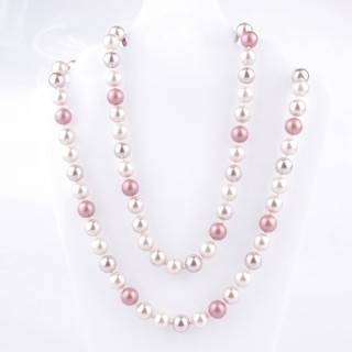 43072-13 SHELL PEARL 10 MM DIAMETER 90 CM LONG NECKLACE