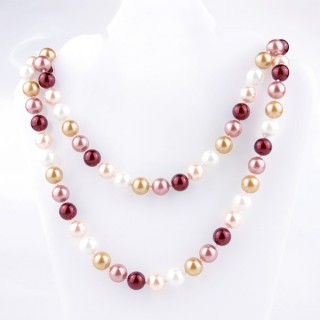 43072-02 SHELL PEARL 10 MM DIAMETER 90 CM LONG NECKLACE