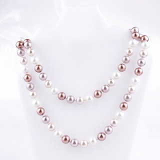 43072-04 SHELL PEARL 10 MM DIAMETER 90 CM LONG NECKLACE