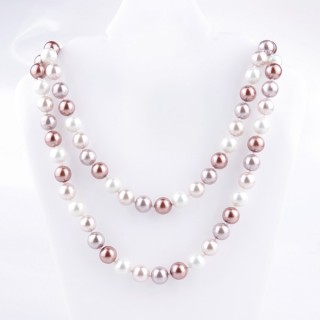 43072-05 SHELL PEARL 10 MM DIAMETER 90 CM LONG NECKLACE