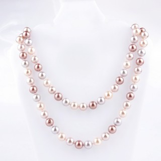 43072-06 SHELL PEARL 10 MM DIAMETER 90 CM LONG NECKLACE