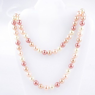 43072-08 SHELL PEARL 10 MM DIAMETER 90 CM LONG NECKLACE
