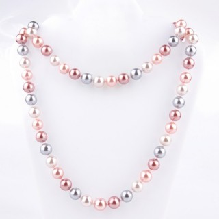 43072-12 SHELL PEARL 10 MM DIAMETER 90 CM LONG NECKLACE