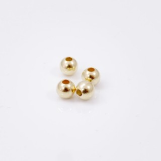32957 PACK OF 30 GOLD COLOURED SILVER 4 MM BEADS