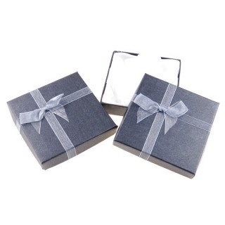 18826-01 PACK OF 12 GIFT BOXES FOR BRACELETS 9 X 9 CM IN GREY