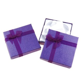18826-02 PACK OF 12 GIFT BOXES FOR BRACELETS 9 X 9 CM IN PURPLE