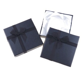 18826-04 PACK OF 12 GIFT BOXES FOR BRACELETS 9 X 9 CM IN BLACK