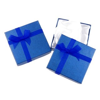18826-06 PACK OF 12 GIFT BOXES FOR BRACELETS 9 X 9 CM IN BLUE