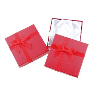 18826-08 PACK OF 12 GIFT BOXES FOR BRACELETS 9 X 9 CM IN RED