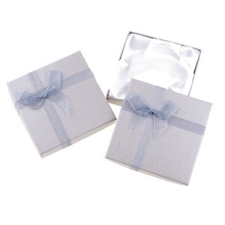 18826-07 PACK OF 12 GIFT BOXES FOR BRACELETS 9 X 9 CM IN SILVER