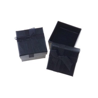 18820-04 PACK OF 24 GIFT BOXES FOR RINGS/EARRINGS 5 X 5 CM IN BLACK