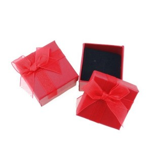 18820-07 PACK OF 24 GIFT BOXES FOR RINGS/EARRINGS 5 X 5 CM IN RED