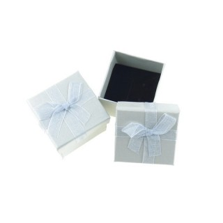 18820-08 PACK OF 24 GIFT BOXES FOR RINGS/EARRINGS 5 X 5 CM IN SILVER