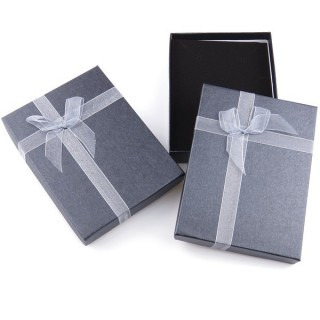 18824-01 PACK OF 6 GIFT BOXES FOR SETS 12 X 16 CM IN GREY