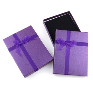18824-02 PACK OF 6 GIFT BOXES FOR SETS 12 X 16 CM IN PURPLE