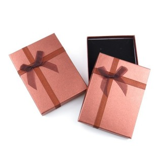 18824-03 PACK OF 6 GIFT BOXES FOR SETS 12 X 16 CM IN DARK BROWN