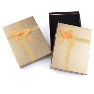18824-05 PACK OF 6 GIFT BOXES FOR SETS 12 X 16 CM IN GOLD