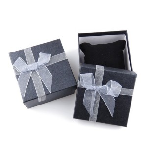 18825-01 PACK OF 6 GIFT BOXES FOR BRACELETS 9 X 9 X 5 CM IN GREY
