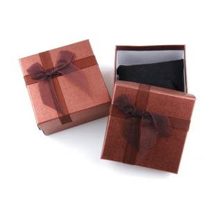 18825-03 PACK OF 6 GIFT BOXES FOR BRACELETS 9 X 9 X 5 CM IN DARK BROWN