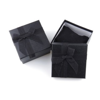 18825-04 PACK OF 6 GIFT BOXES FOR BRACELETS 9 X 9 X 5 CM IN BLACK
