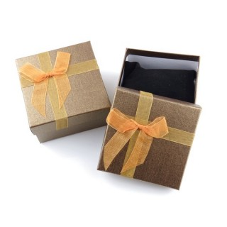 18825-05 PACK OF 6 GIFT BOXES FOR BRACELETS 9 X 9 X 5 CM IN GOLD