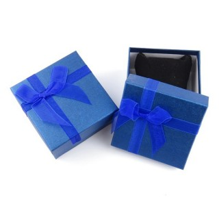 18825-06 PACK OF 6 GIFT BOXES FOR BRACELETS 9 X 9 X 5 CM IN BLUE